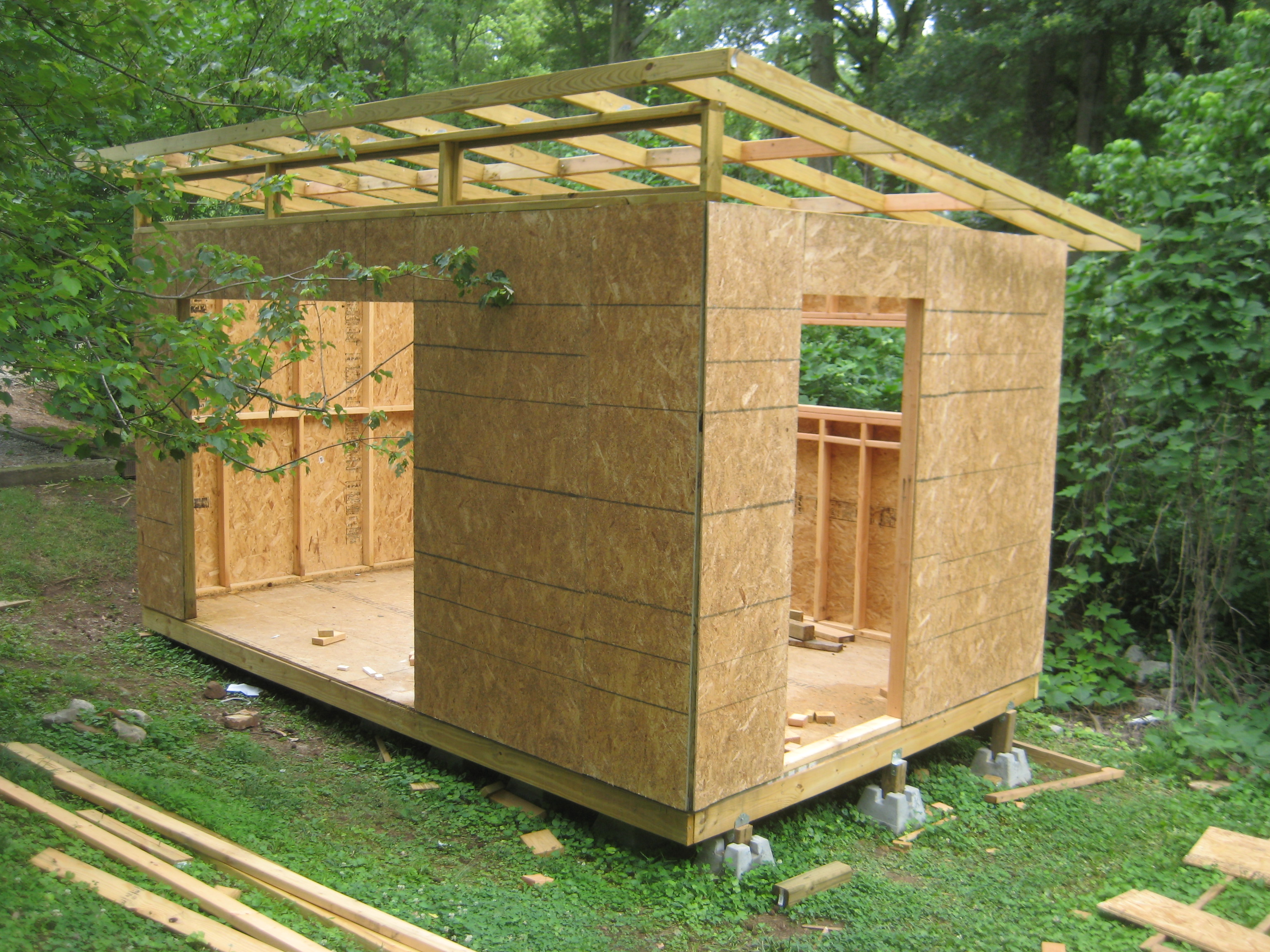 Diy modern shed project diyatlantamodern for Diy barn plans