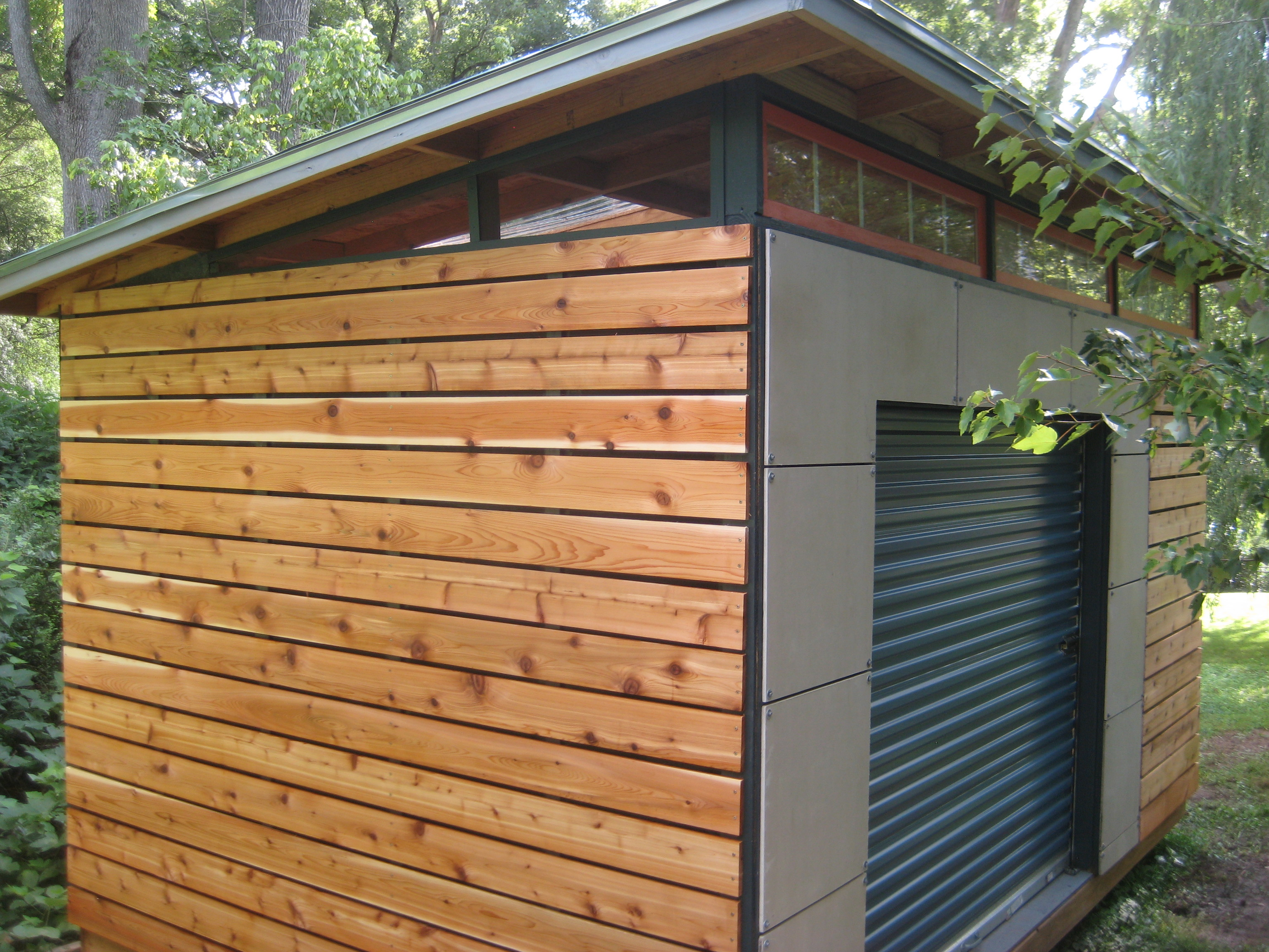 Diy modern shed project diyatlantamodern for Modern garden shed designs