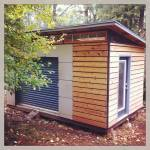 One and a half years later, the shed in the Fall