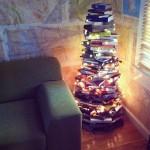 In lieu of bookshelves