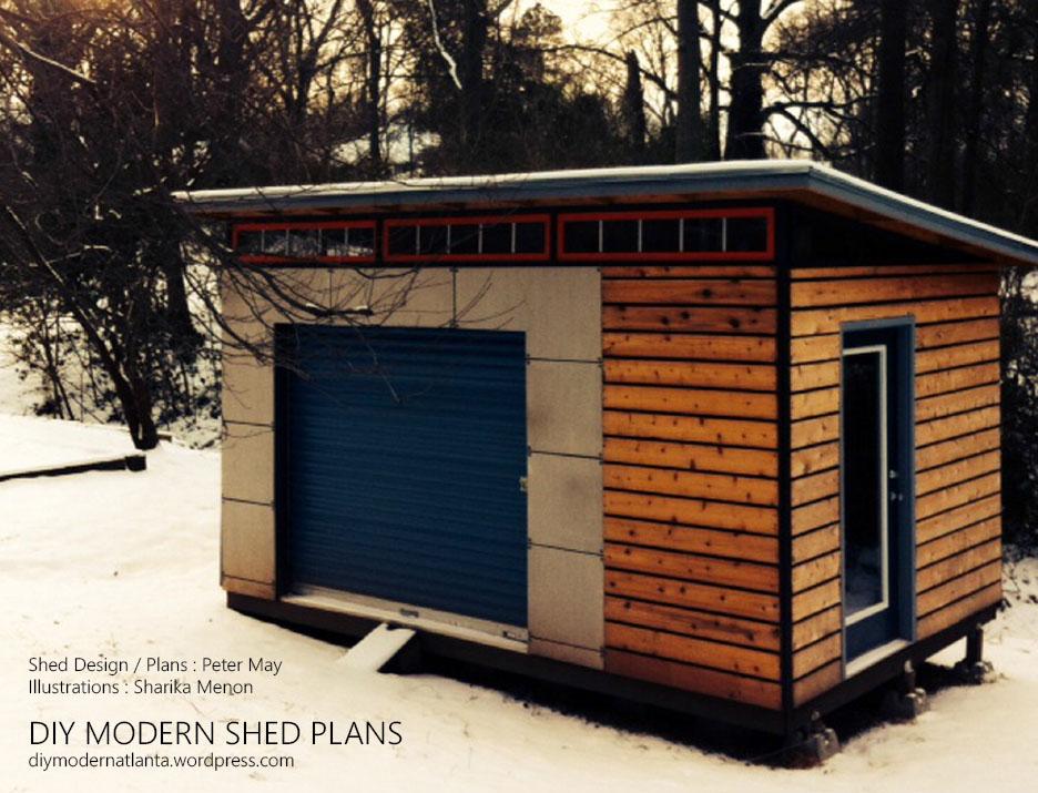 Shed plans are here diyatlantamodern for Modern shed plans