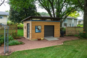 Kurt decided to forgo the Hardie boards in favor of these beautiful cedar boards.